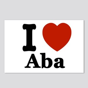 I love Aba Postcards (Package of 8)