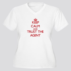 Keep Calm and Trust the Agent Plus Size T-Shirt
