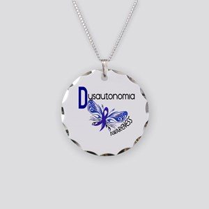 Butterfly 3.1 Dysautonomia Necklace Circle Charm