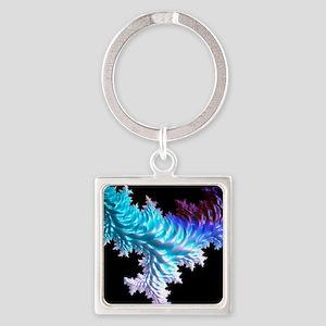 special fractal coral,aqua Keychains