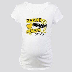 Peace Love Cure COPD Maternity T-Shirt