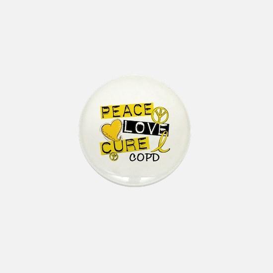 Peace Love Cure COPD Mini Button