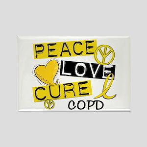 Peace Love Cure COPD Rectangle Magnet