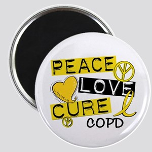 Peace Love Cure COPD Magnet