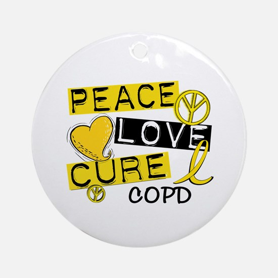 Peace Love Cure COPD Ornament (Round)
