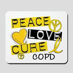Peace Love Cure COPD Mousepad