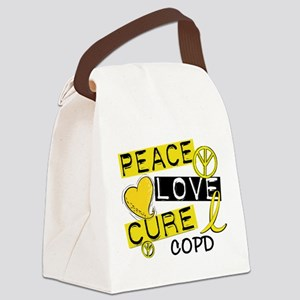 Peace Love Cure COPD Canvas Lunch Bag