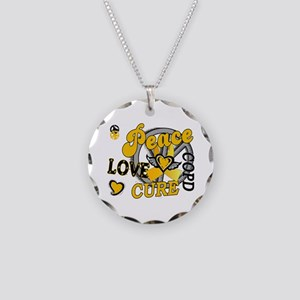 Peace Love Cure 2 COPD Necklace Circle Charm