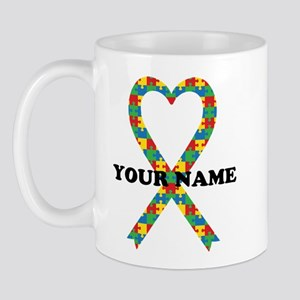 Personalized Autism Ribbon Mug