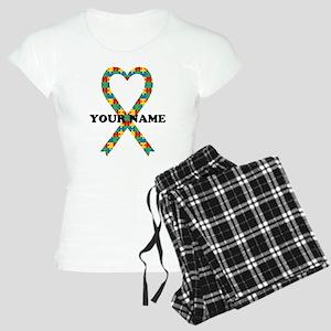 Personalized Autism Ribbon Women's Light Pajamas