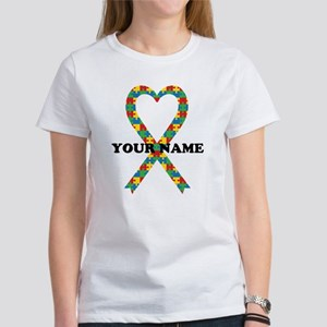 Personalized Autism Ribbon Women's T-Shirt