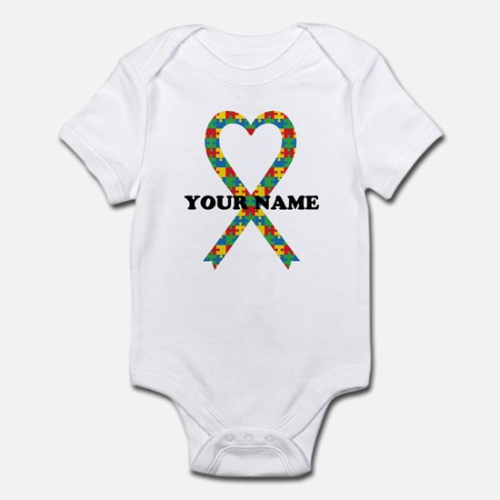 Personalized Autism Ribbon Infant Bodysuit