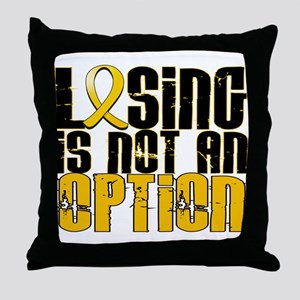 Losing Is Not an Option COPD Throw Pillow