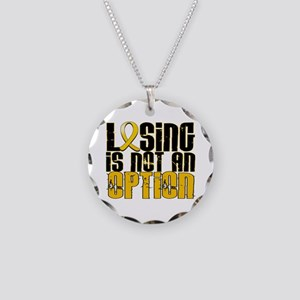 Losing Is Not an Option COPD Necklace Circle Charm