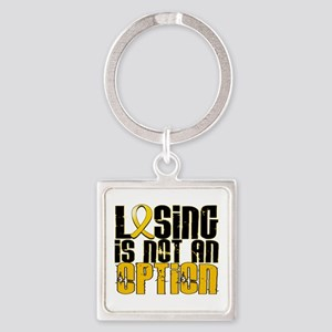 Losing Is Not an Option COPD Square Keychain