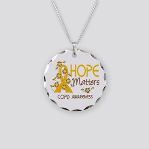 Hope Matters 3 COPD Necklace Circle Charm