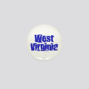 Distorted West Virginia Mini Button