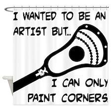 Lacrosse_PaintCorners Shower Curtain