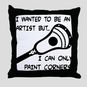 Lacrosse_PaintCorners Throw Pillow