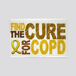 Find the Cure COPD Rectangle Magnet