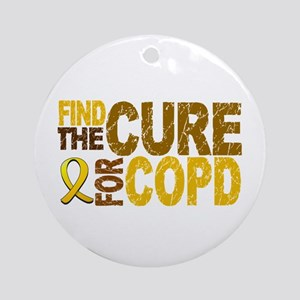 Find the Cure COPD Ornament (Round)