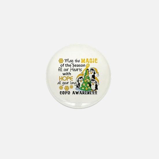 Christmas Penguins COPD Mini Button