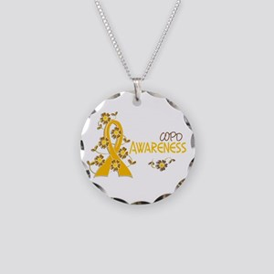 Awareness 6 COPD Necklace Circle Charm