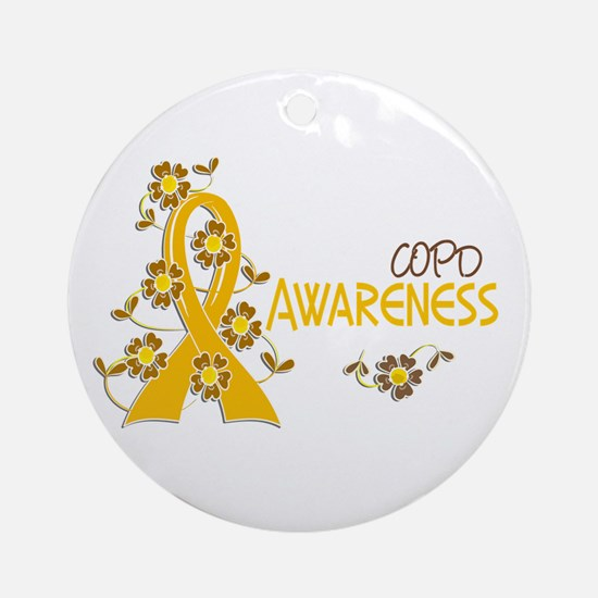 Awareness 6 COPD Ornament (Round)