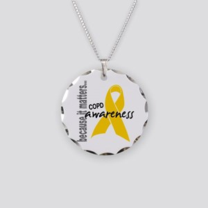Awareness 1 COPD Necklace Circle Charm