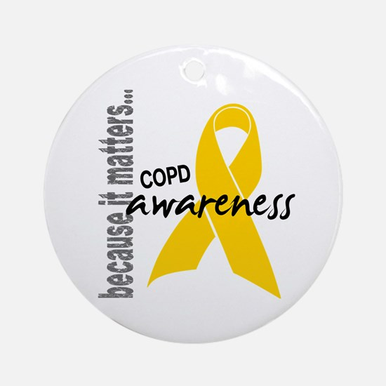 Awareness 1 COPD Ornament (Round)