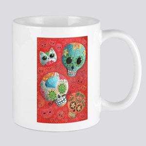 Colorful Mexican Sugar Skulls Mugs