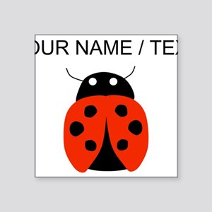 Custom Red Ladybug Sticker