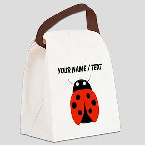 Custom Red Ladybug Canvas Lunch Bag