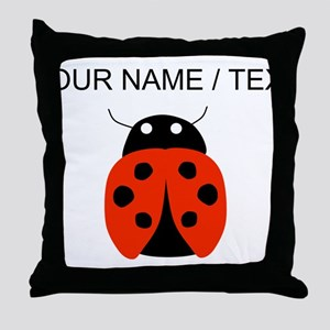 Custom Red Ladybug Throw Pillow