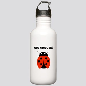 Custom Red Ladybug Water Bottle