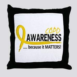 Awareness 2 COPD Throw Pillow