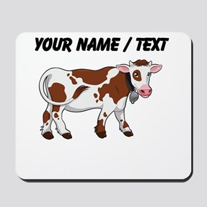 Custom Brown And White Cow Mousepad