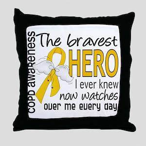 Bravest Hero I Knew COPD Throw Pillow