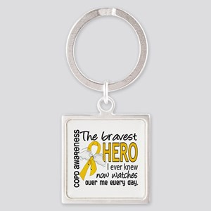 Bravest Hero I Knew COPD Square Keychain