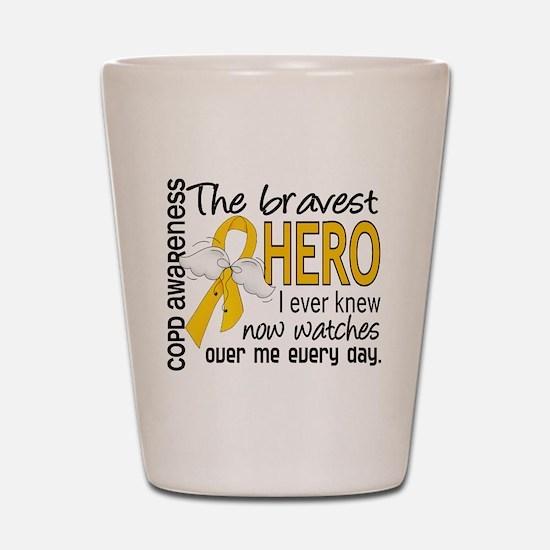 Bravest Hero I Knew COPD Shot Glass
