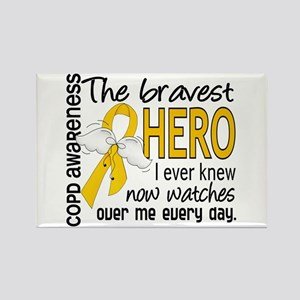 Bravest Hero I Knew COPD Rectangle Magnet