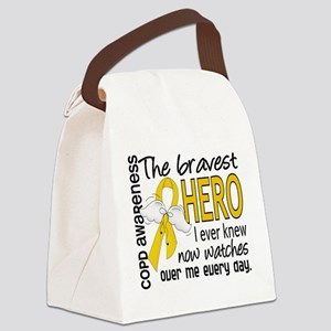 Bravest Hero I Knew COPD Canvas Lunch Bag