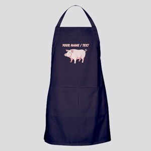 Custom Pink Pig Apron (dark)