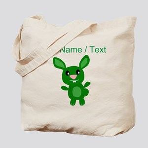 Custom Green Bunny Tote Bag