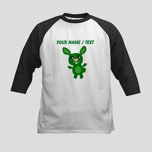 Custom Green Bunny Baseball Jersey