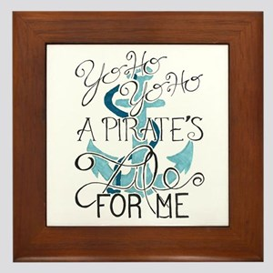 A Pirate's Life For Me Framed Tile