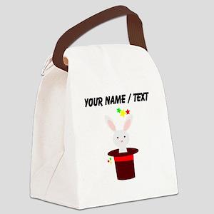 Custom Magic Rabbit In Hat Canvas Lunch Bag