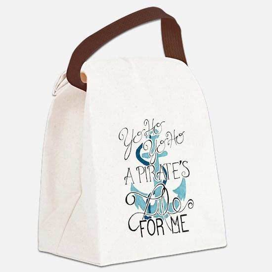 Cute Pirate sail ship history Canvas Lunch Bag