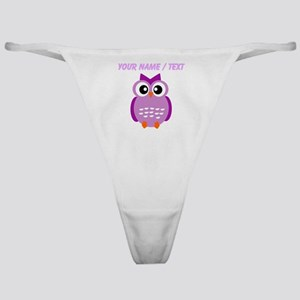 Custom Purple Owl Classic Thong