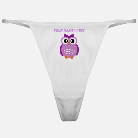 Custom Purple Owl Classic Thong